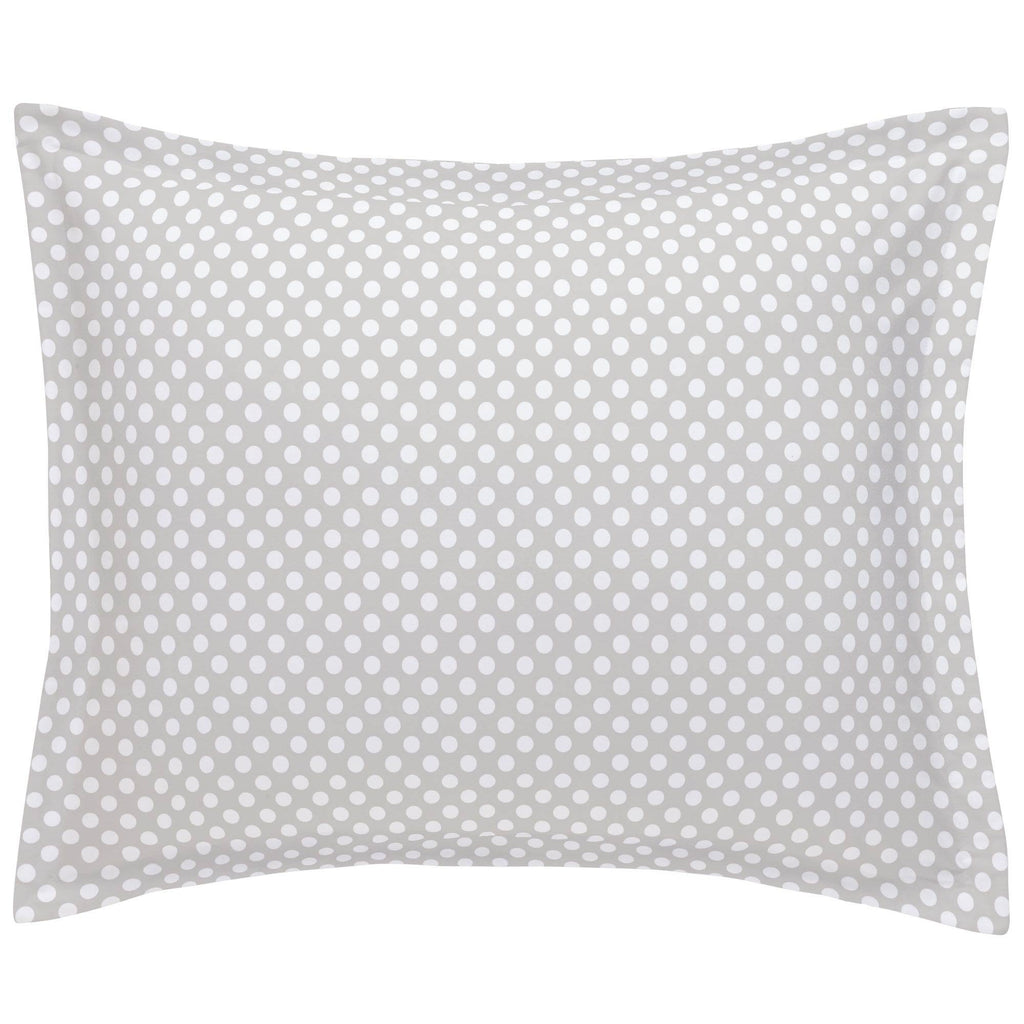 Product image for French Gray and White Dot Pillow Sham