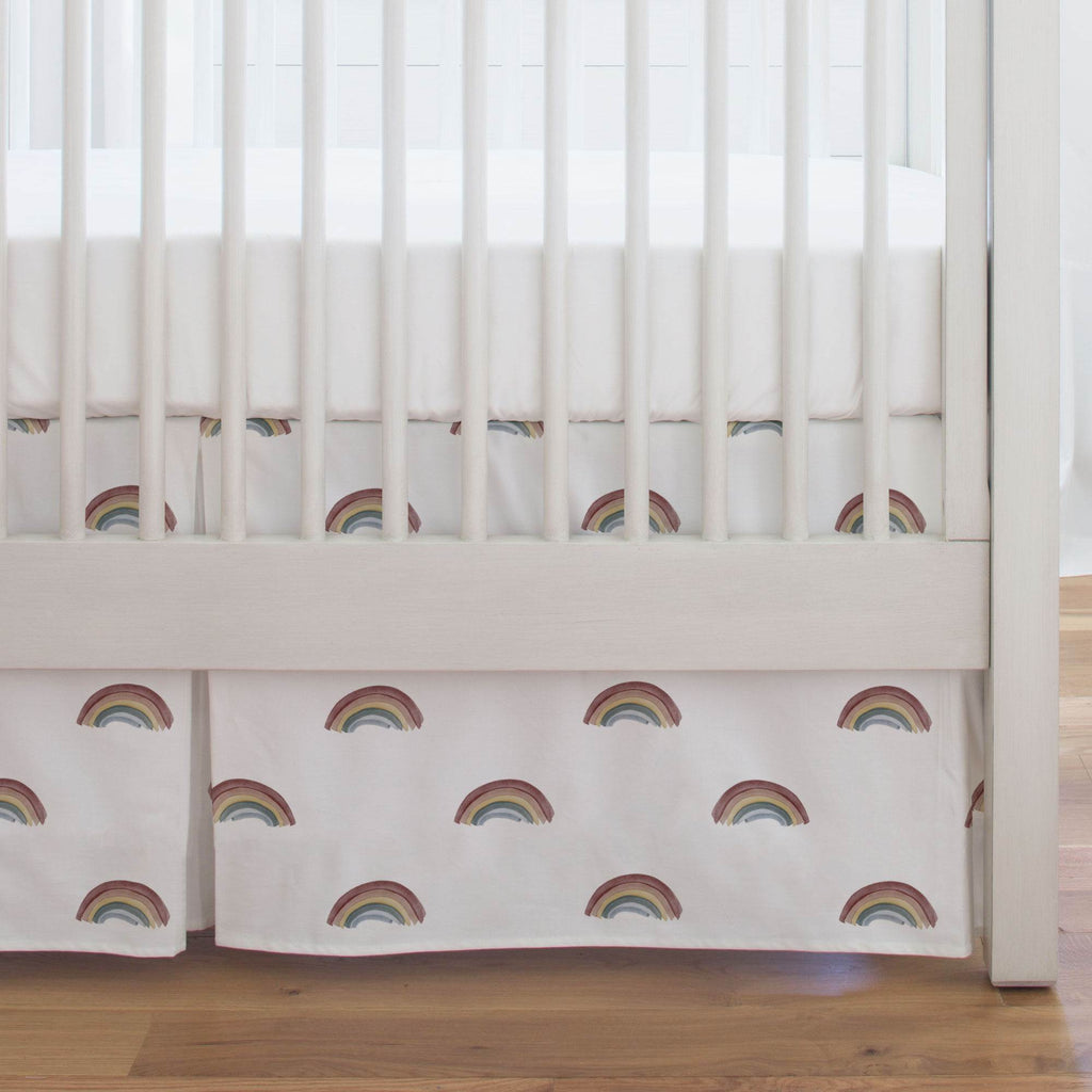 Product image for Soft Rainbows Crib Skirt Single-Pleat
