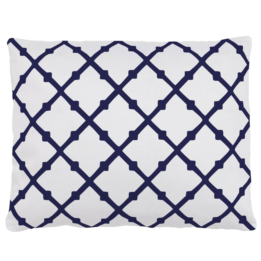 Product image for Windsor Navy Lattice Accent Pillow