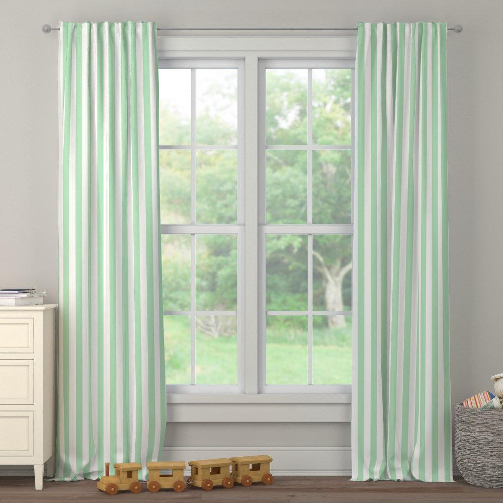 Product image for Mint Stripe Drape Panel