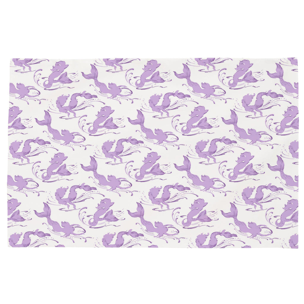 Product image for Purple Swimming Mermaids Toddler Pillow Case