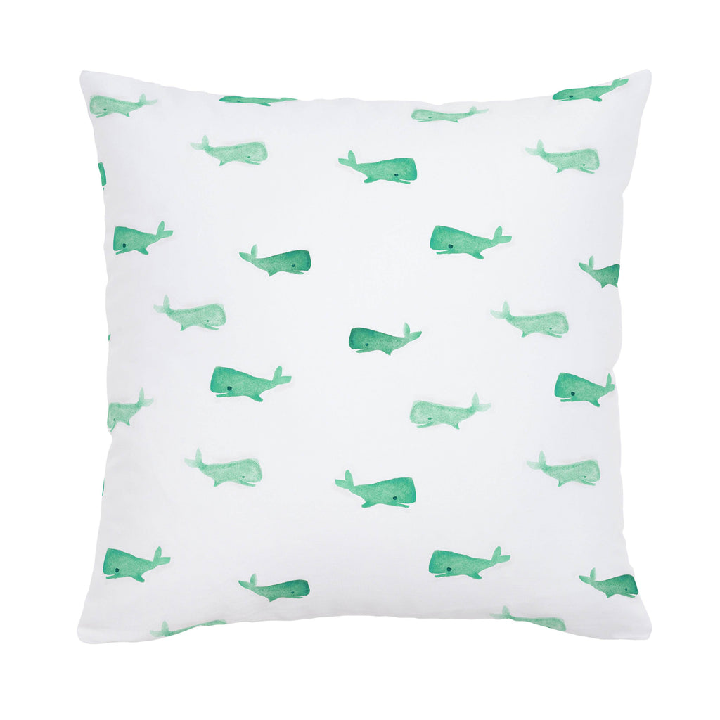 Product image for Mint Whale of a Tale Throw Pillow
