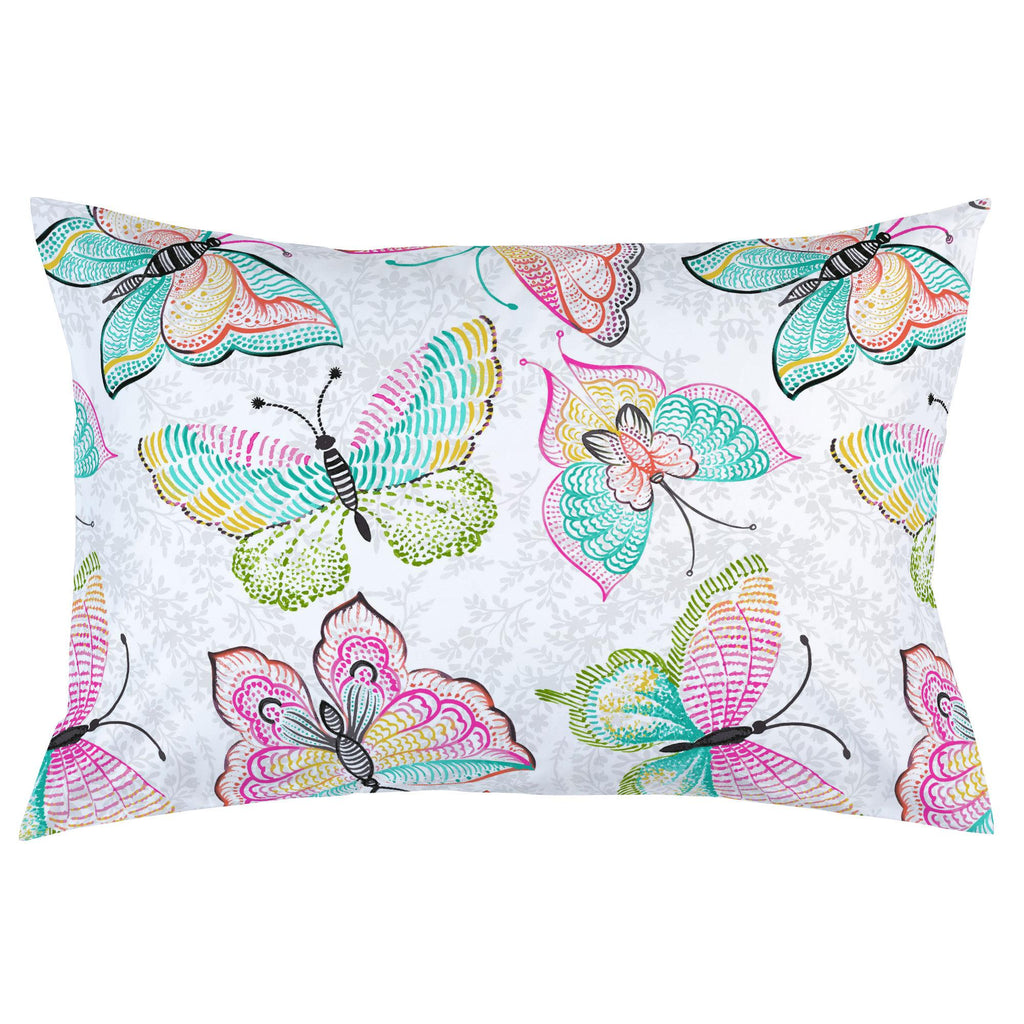 Product image for Bright Damask Butterflies Pillow Case