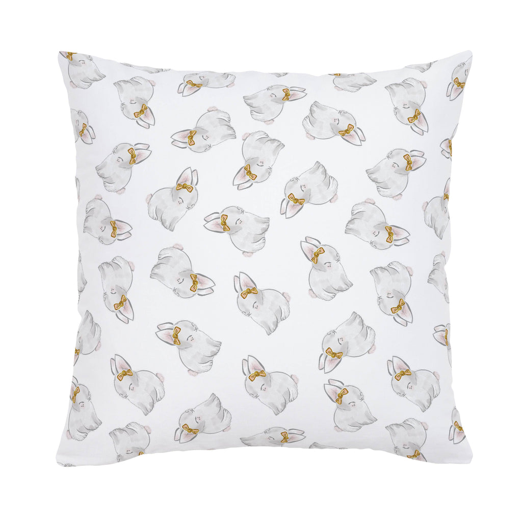 Product image for Painted Bunnies Throw Pillow