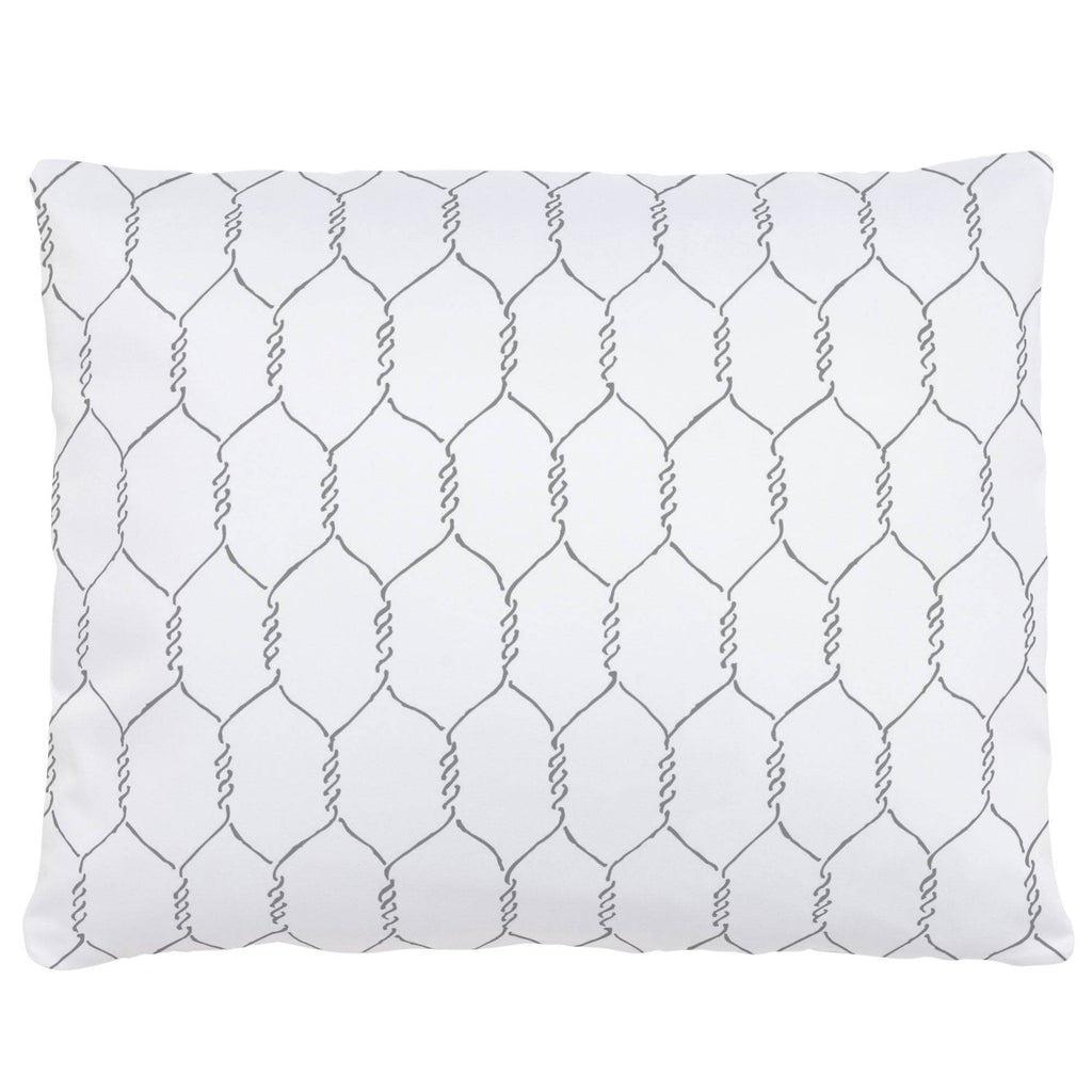 Product image for Gray Farmhouse Wire Accent Pillow