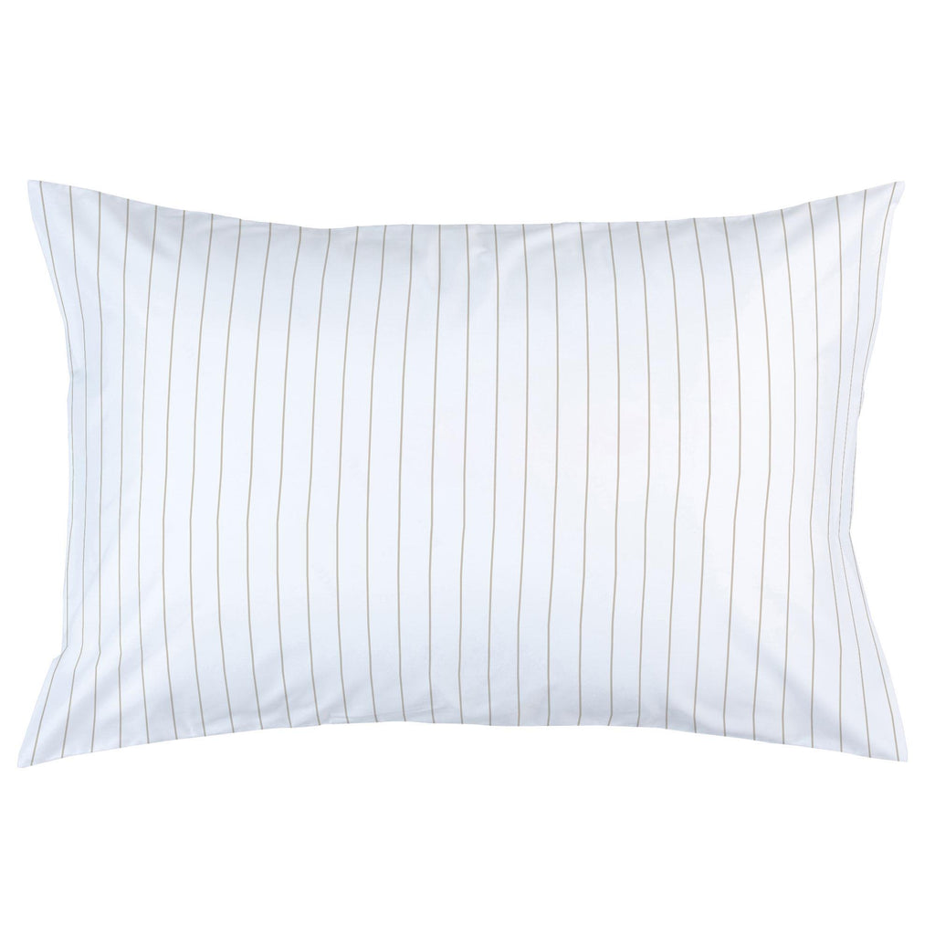 Product image for Taupe Pinstripe Pillow Case