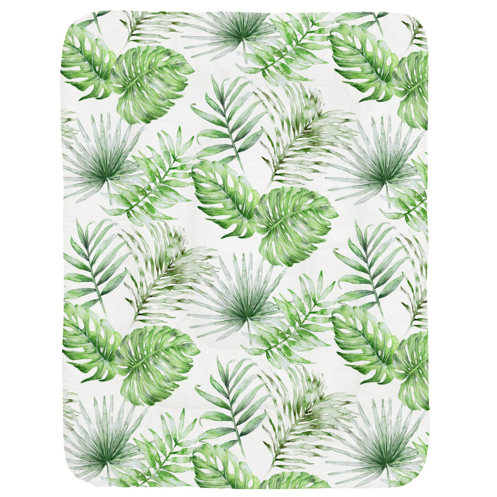 Product image for Green Painted Tropical Crib Comforter