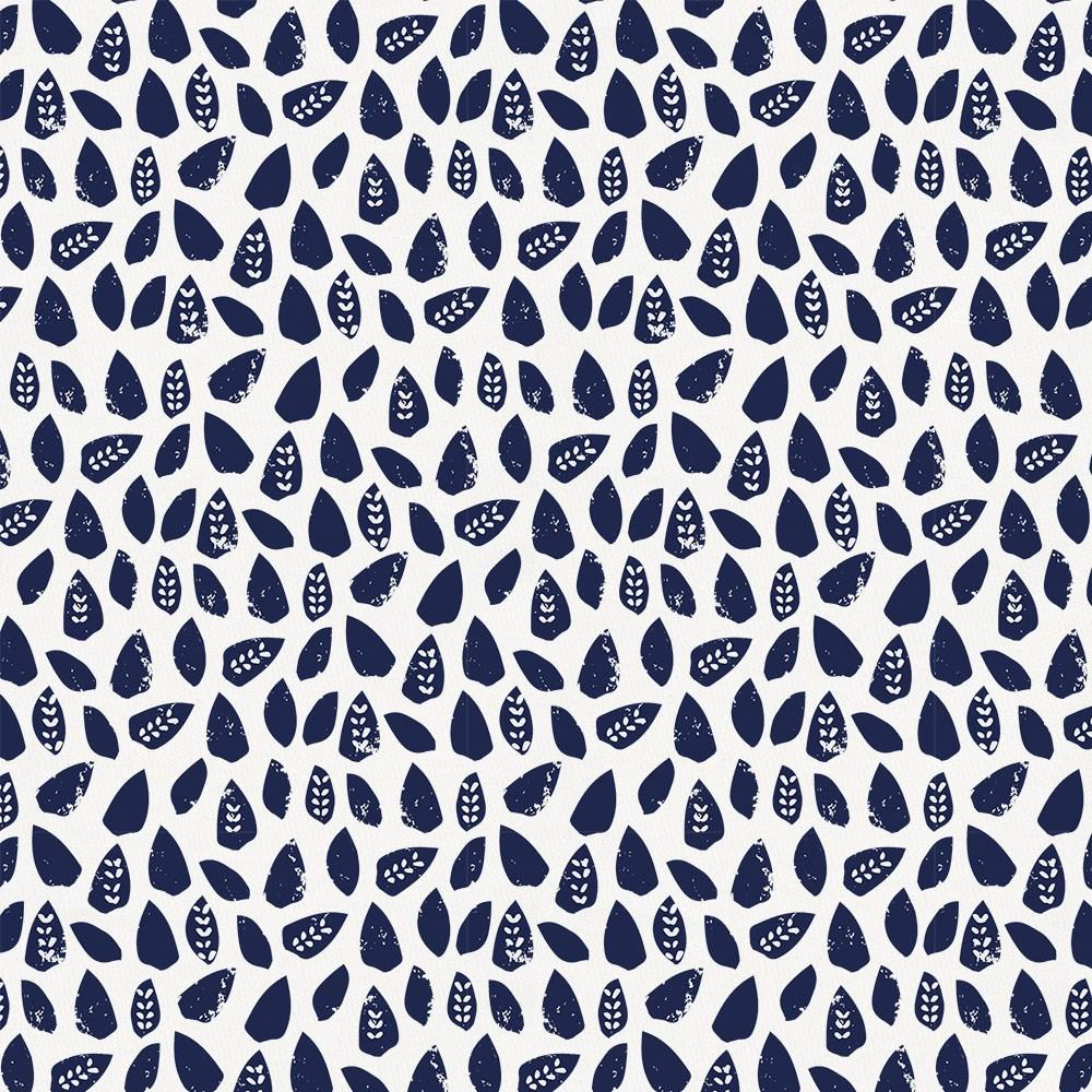 Product image for Navy Woodland Leaf Cradle Sheet