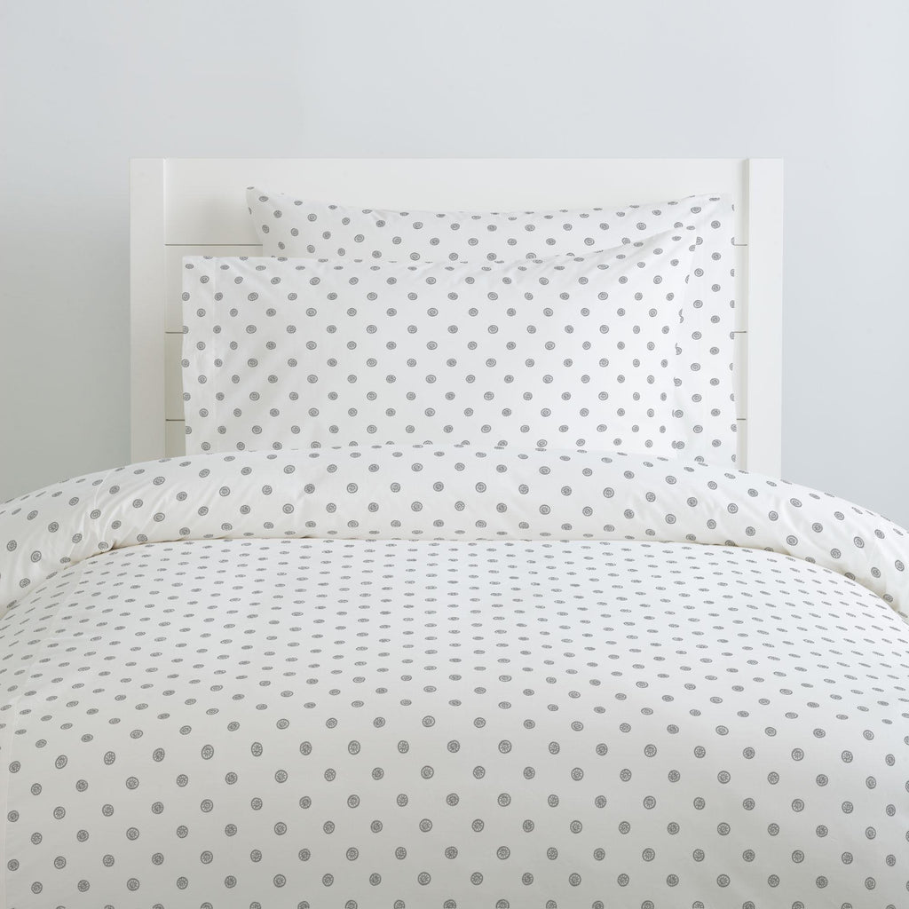 Product image for Cloud Gray Ditsy Dot Duvet Cover