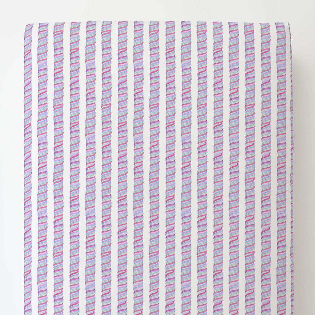 Product image for Unicorn Stripe Toddler Sheet Bottom Fitted