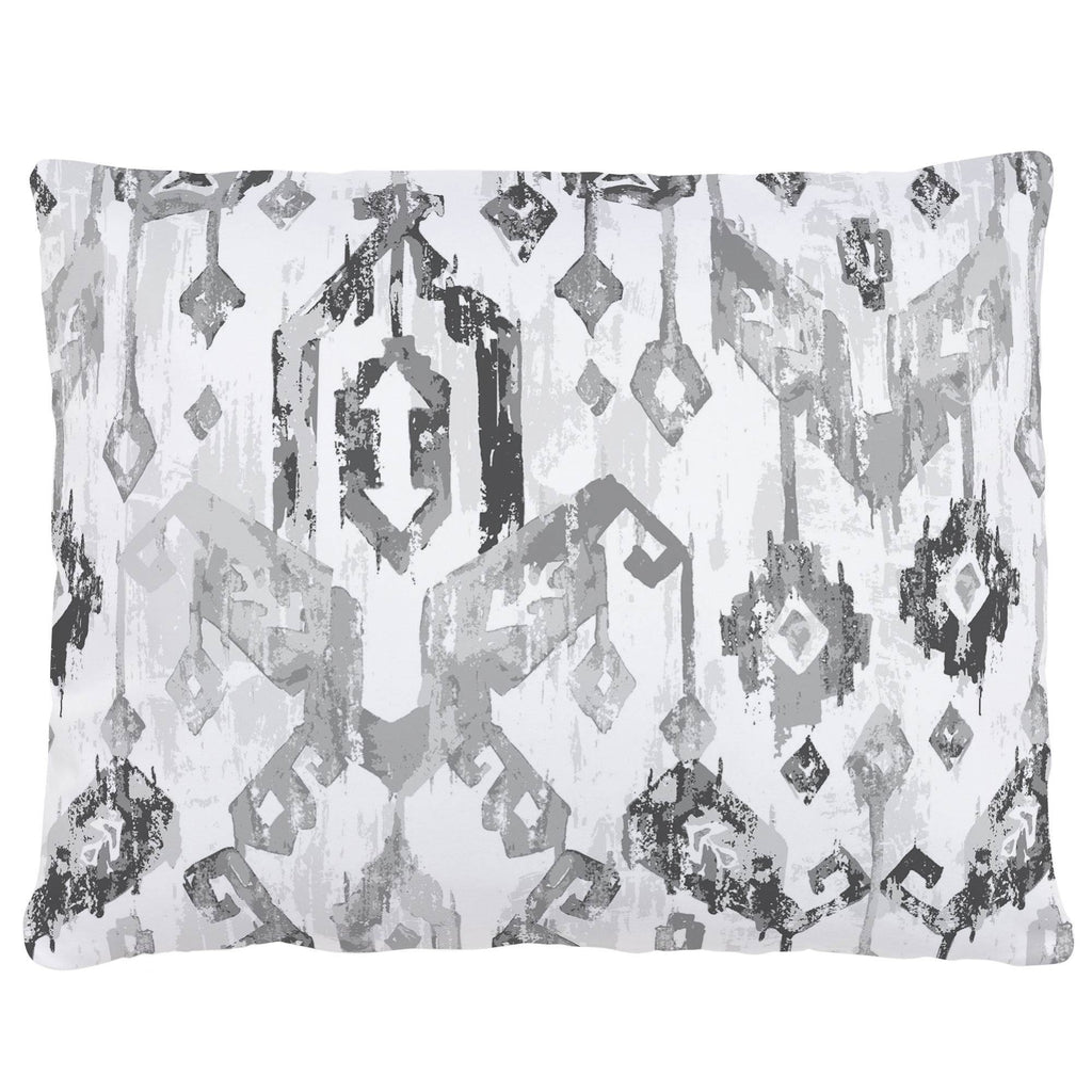 Product image for Gray Tribal Ikat Accent Pillow