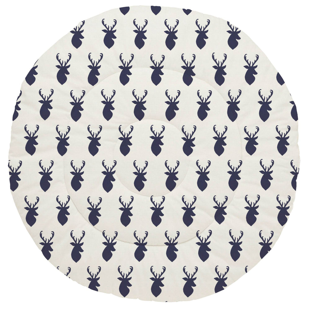 Product image for Windsor Navy Deer Head Baby Play Mat
