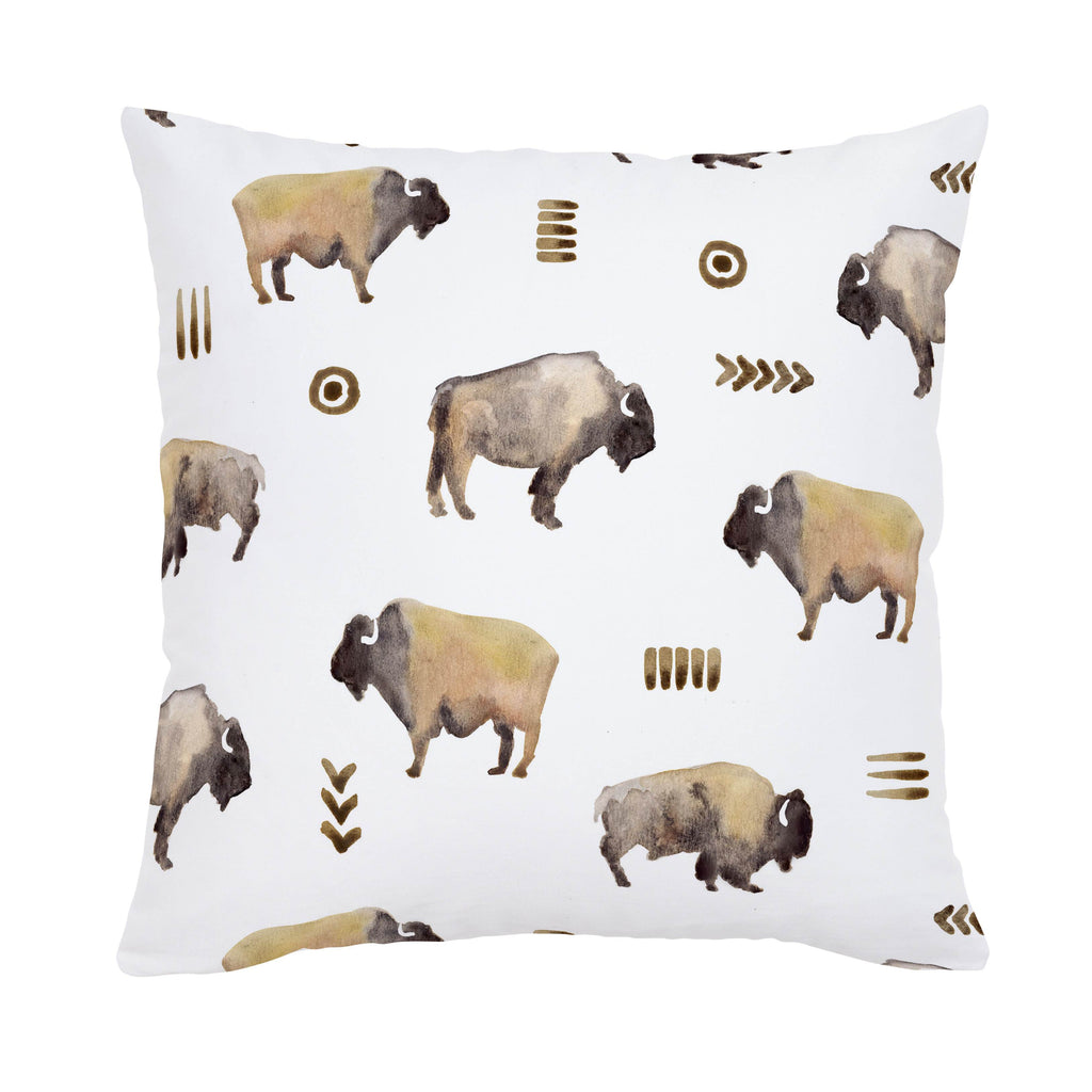 Product image for Watercolor Buffalo Throw Pillow