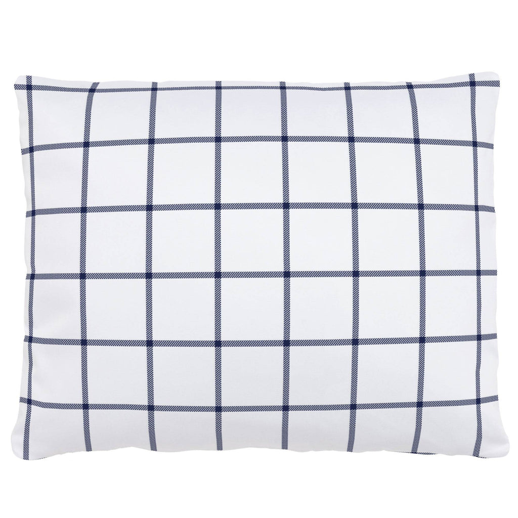 Product image for Navy Windowpane Accent Pillow