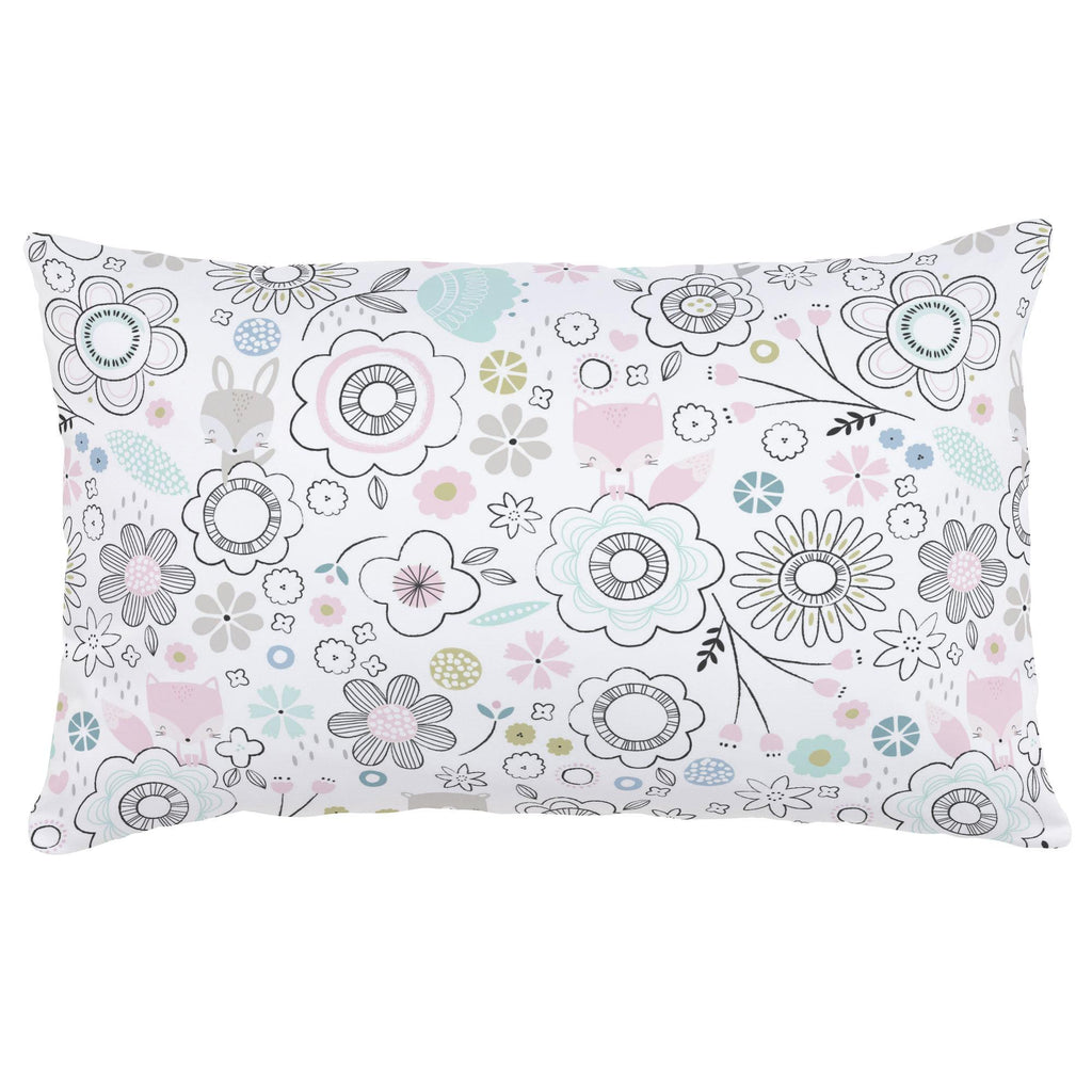 Product image for Pink Spring Doodles Lumbar Pillow