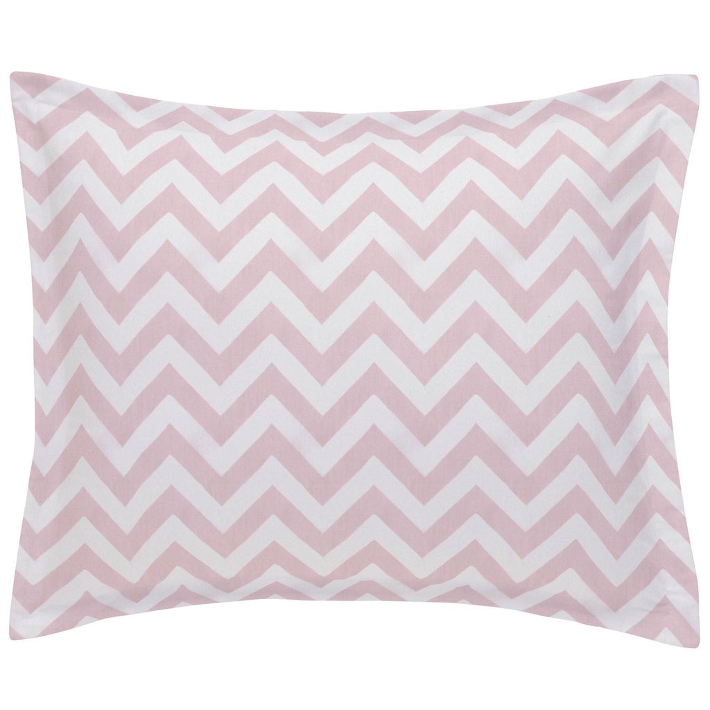 Product image for Pink Zig Zag Pillow Sham
