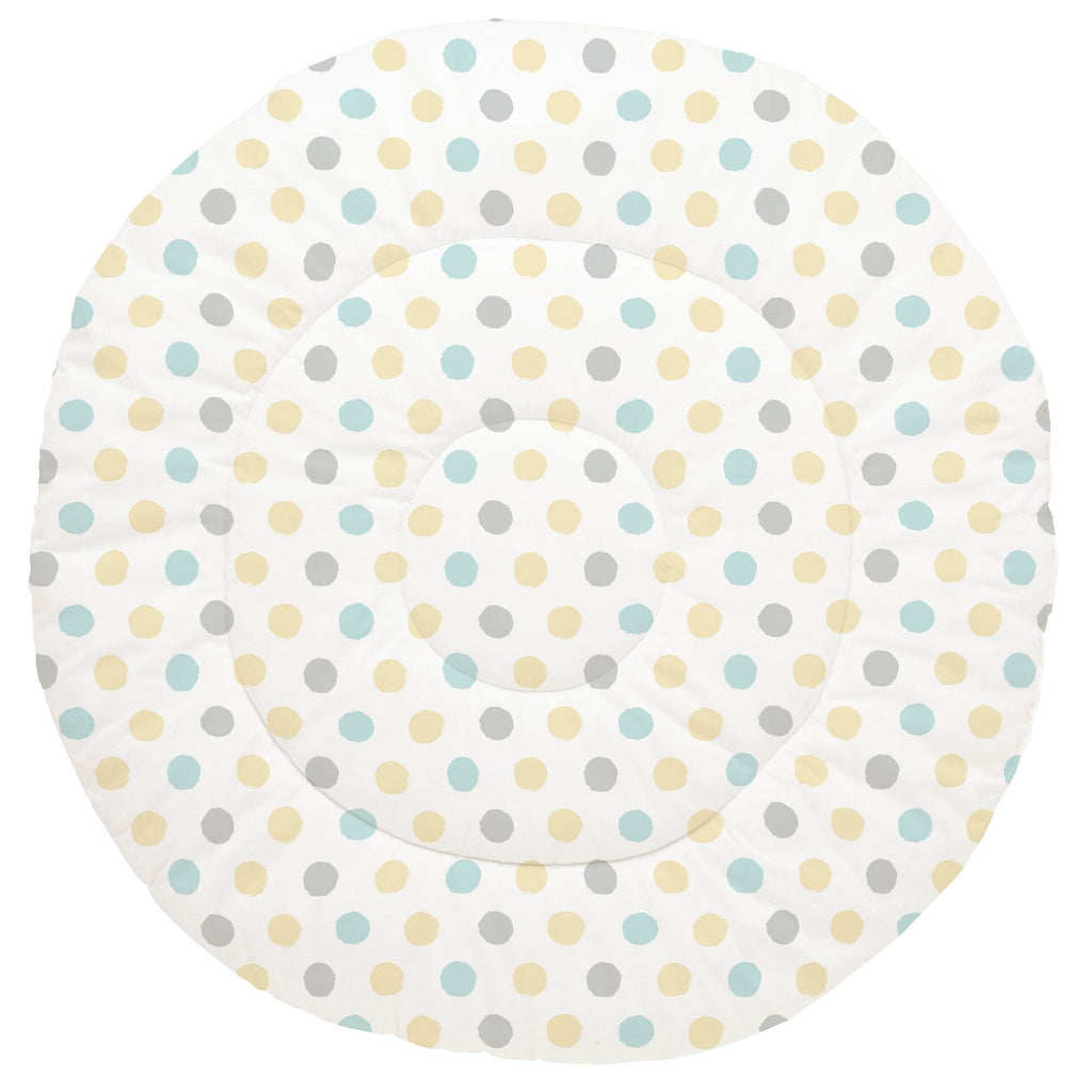 Product image for Mist and Gray Brush Dots Baby Play Mat