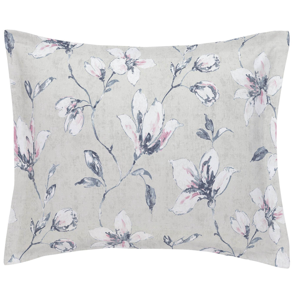 Product image for Pink and Blue Painted Lilies Pillow Sham