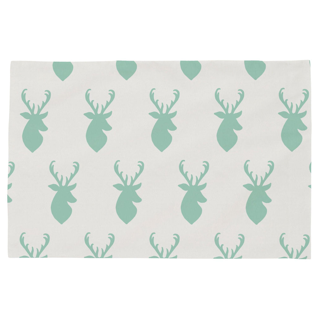 Product image for Mint Deer Head Toddler Pillow Case