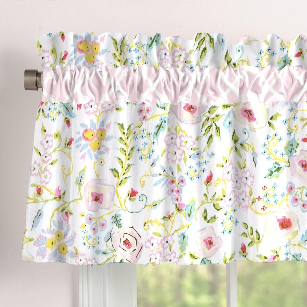 Product image for Pink Primrose Window Valance