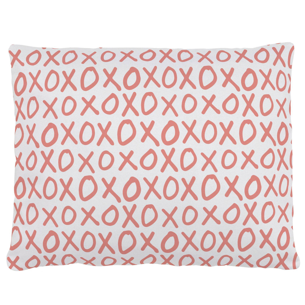 Product image for Light Coral XO Accent Pillow