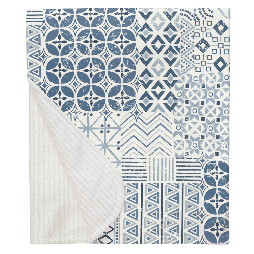 Product image for Denim Patchwork Baby Blanket