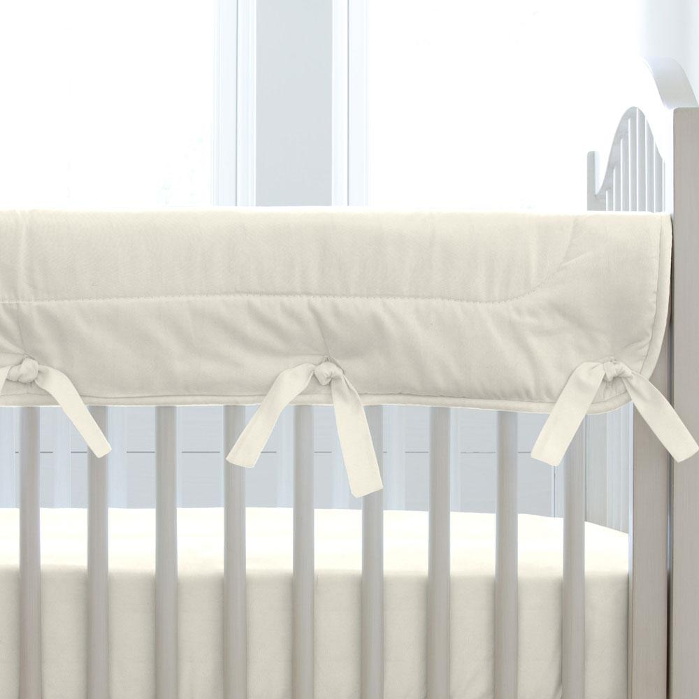 Product image for Solid Ivory Crib Rail Cover