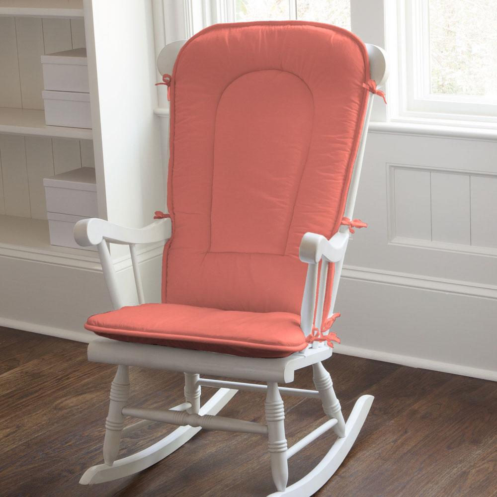 Product image for Solid Coral Rocking Chair Pad