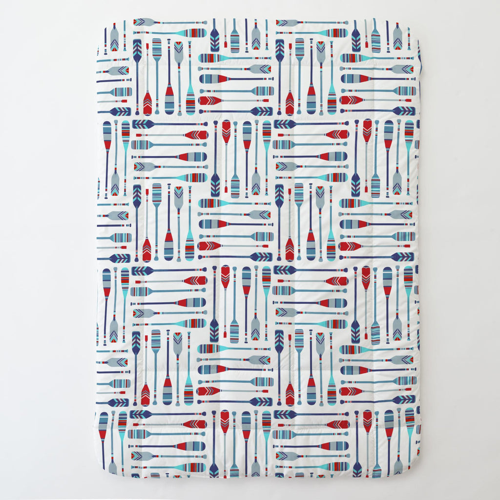 Product image for Red and Blue Oars Toddler Comforter