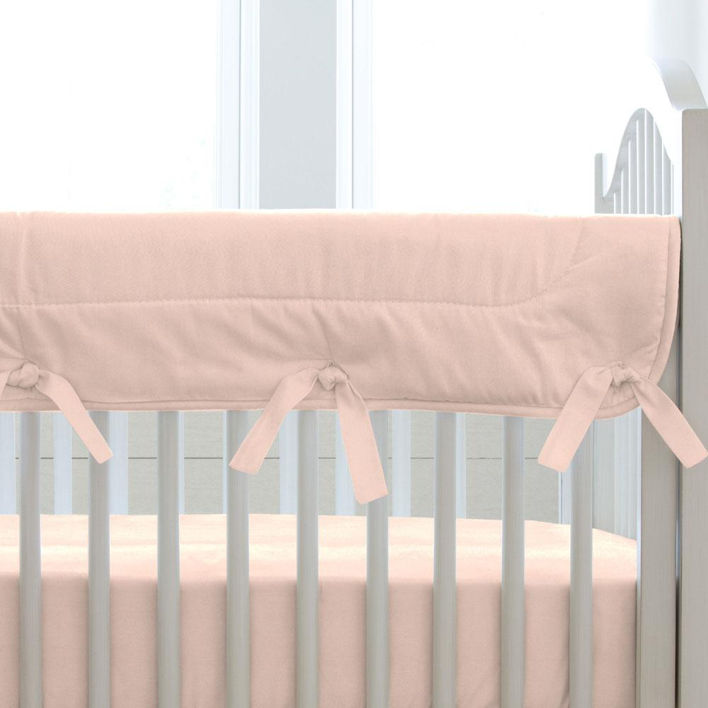 Product image for Solid Peach Crib Rail Cover
