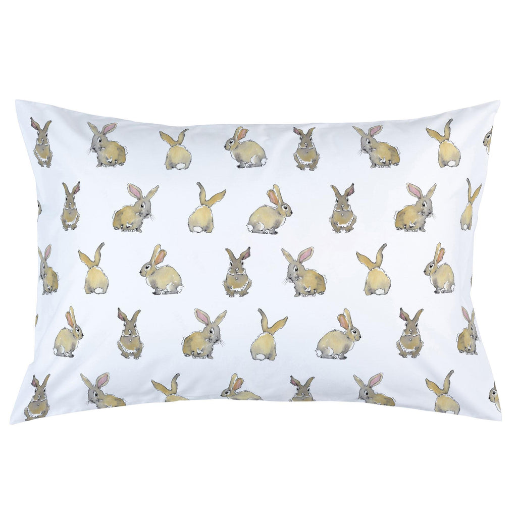 Product image for Watercolor Rabbits Pillow Case