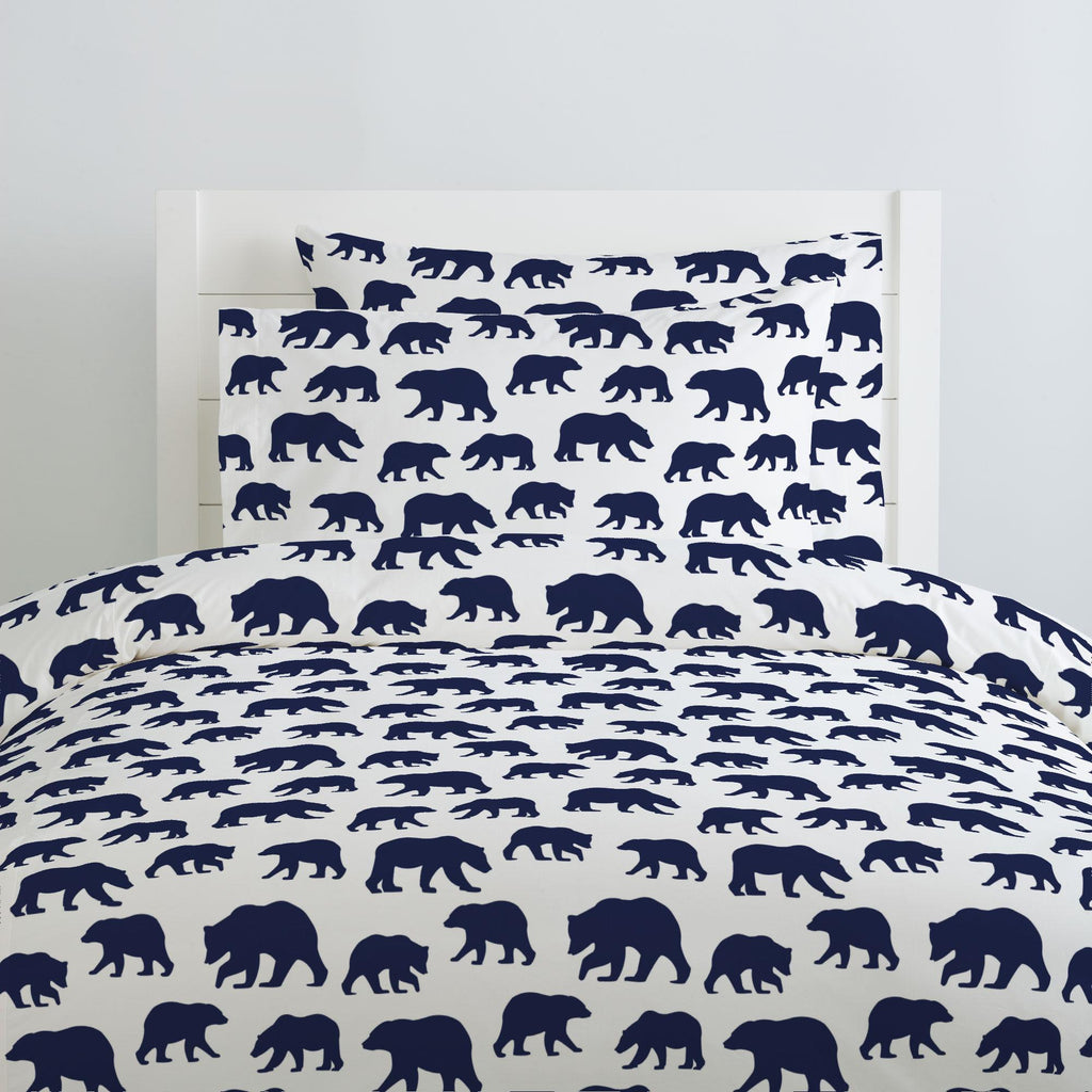Product image for Navy Bears Duvet Cover