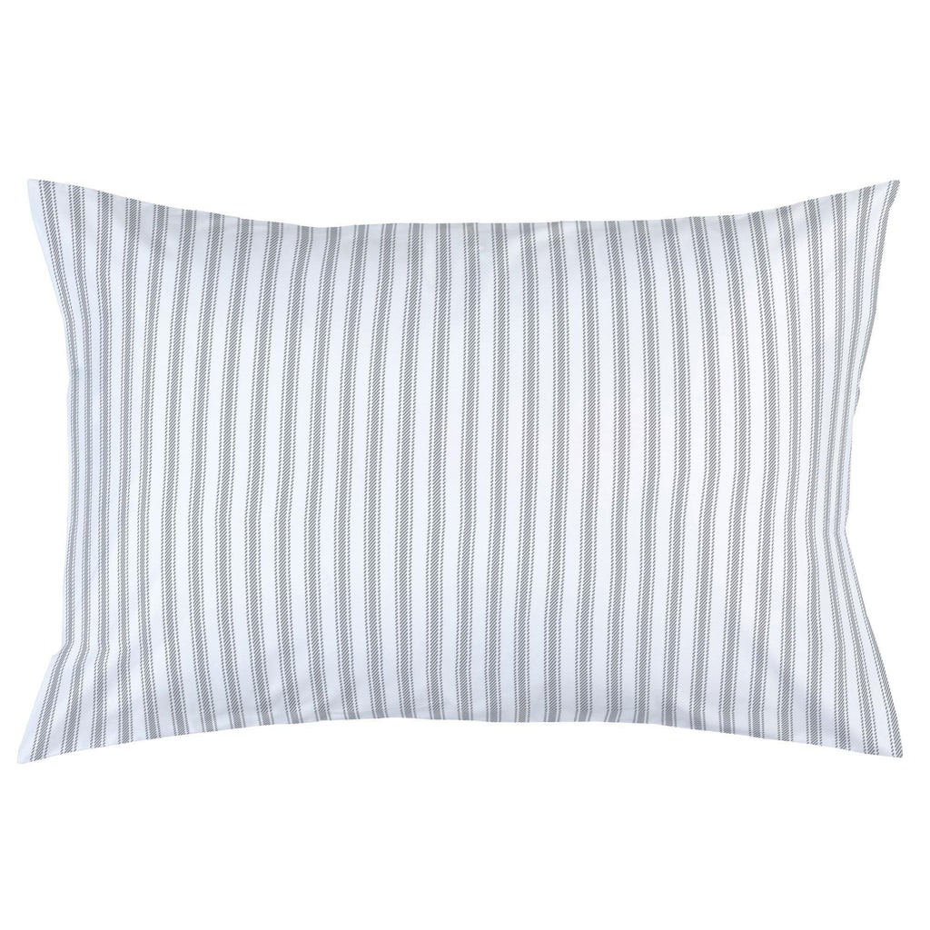 Product image for Cloud Gray Ticking Stripe Pillow Case