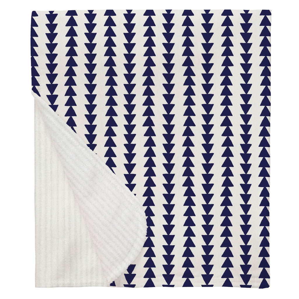 Product image for Windsor Navy Arrow Stripe Baby Blanket