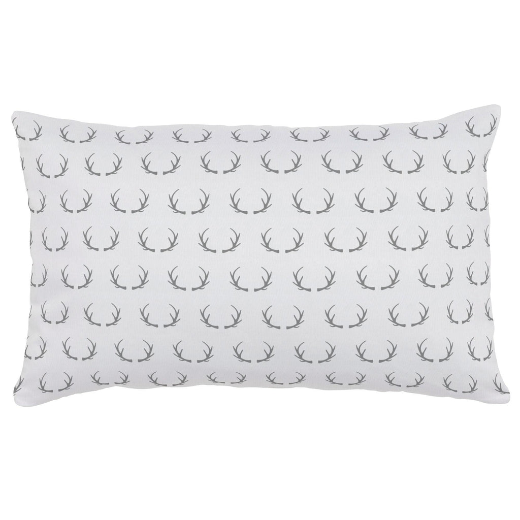 Product image for Silver Gray Antlers Lumbar Pillow