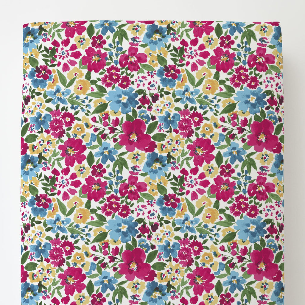 Product image for Prairie Floral Toddler Sheet Bottom Fitted