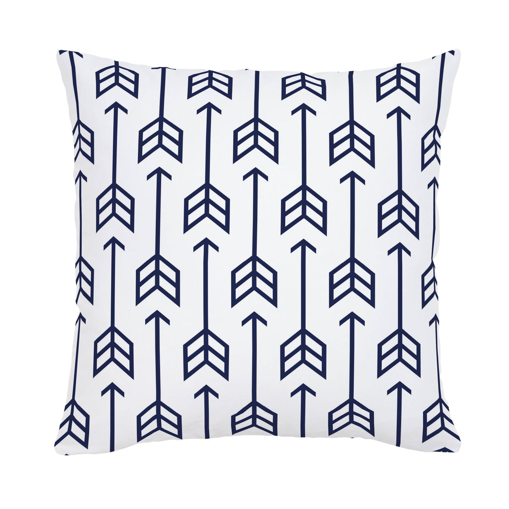 Product image for Navy Arrow Throw Pillow