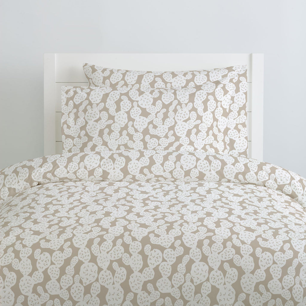 Product image for Taupe Prickly Pear Duvet Cover