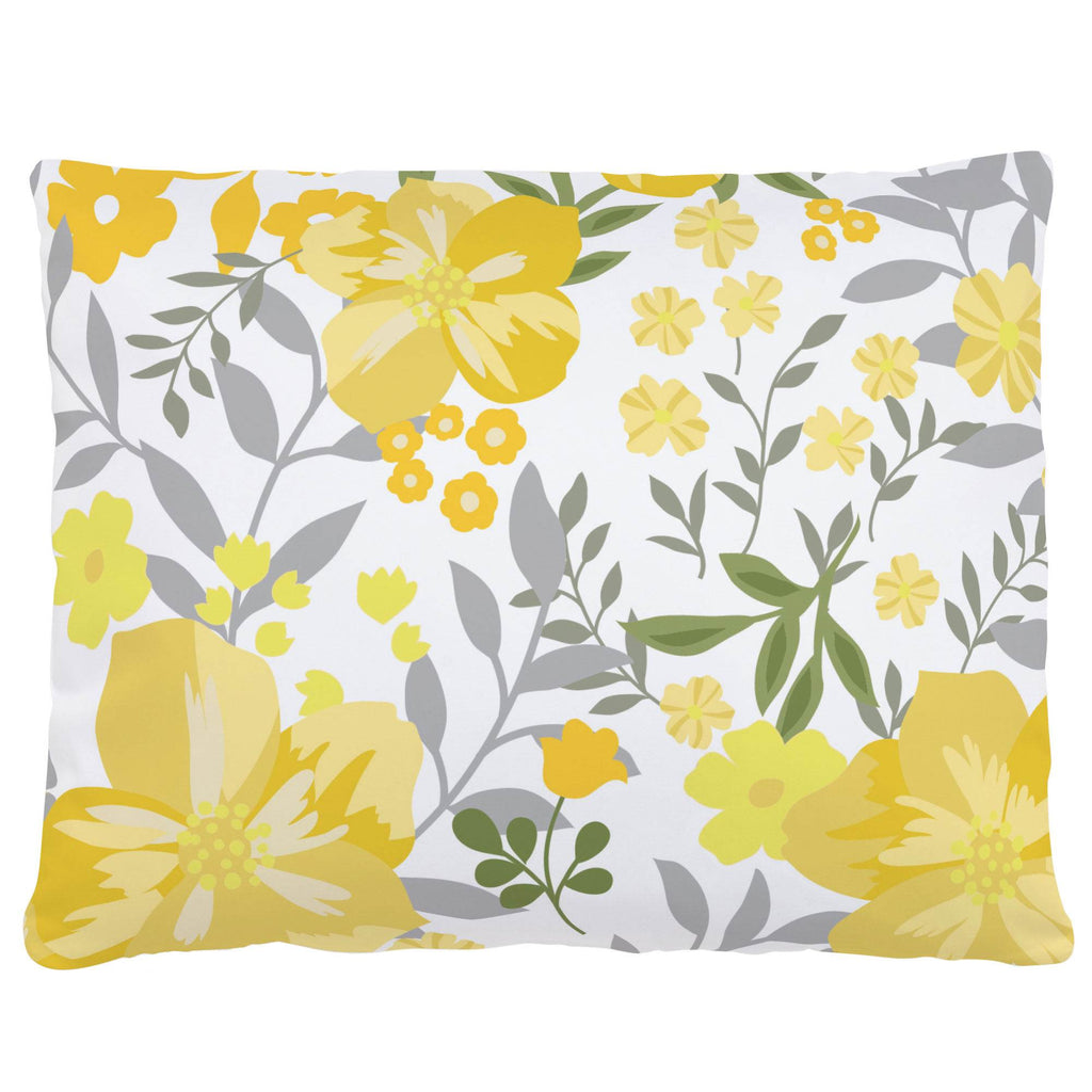 Product image for Yellow Floral Tropic Accent Pillow