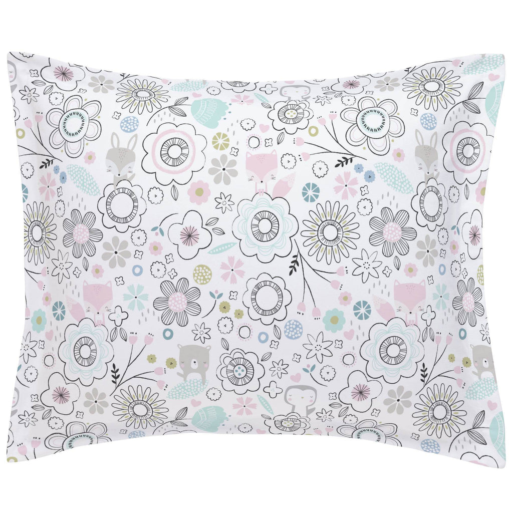 Product image for Pink Spring Doodles Pillow Sham