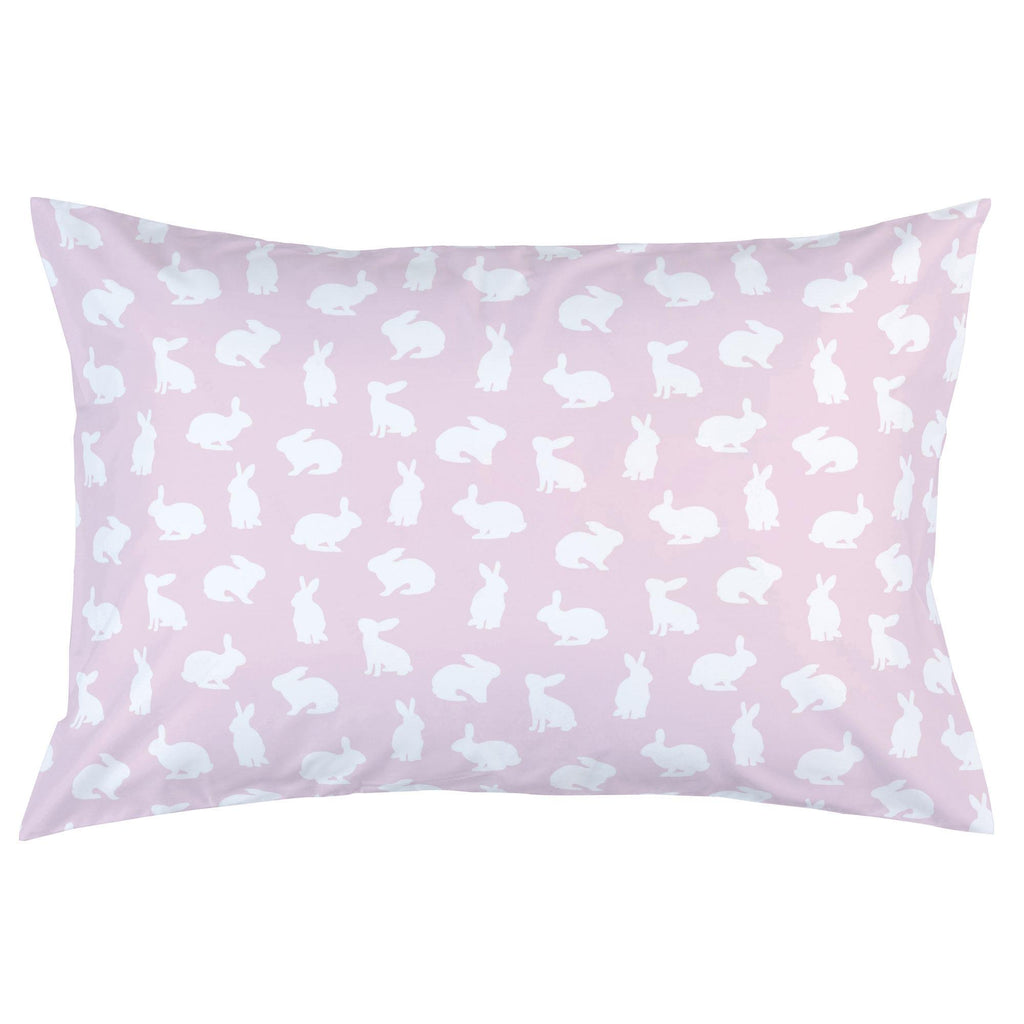 Product image for Pink and White Bunnies Pillow Case