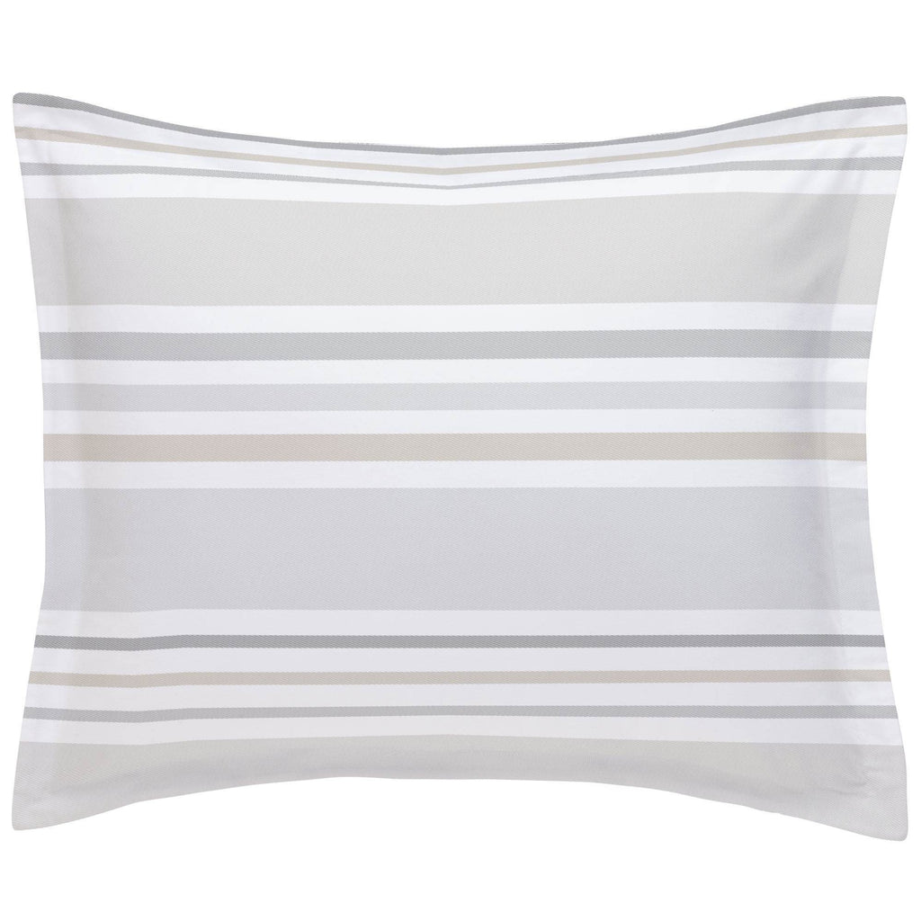 Product image for French Gray and Taupe Summer Stripe Pillow Sham