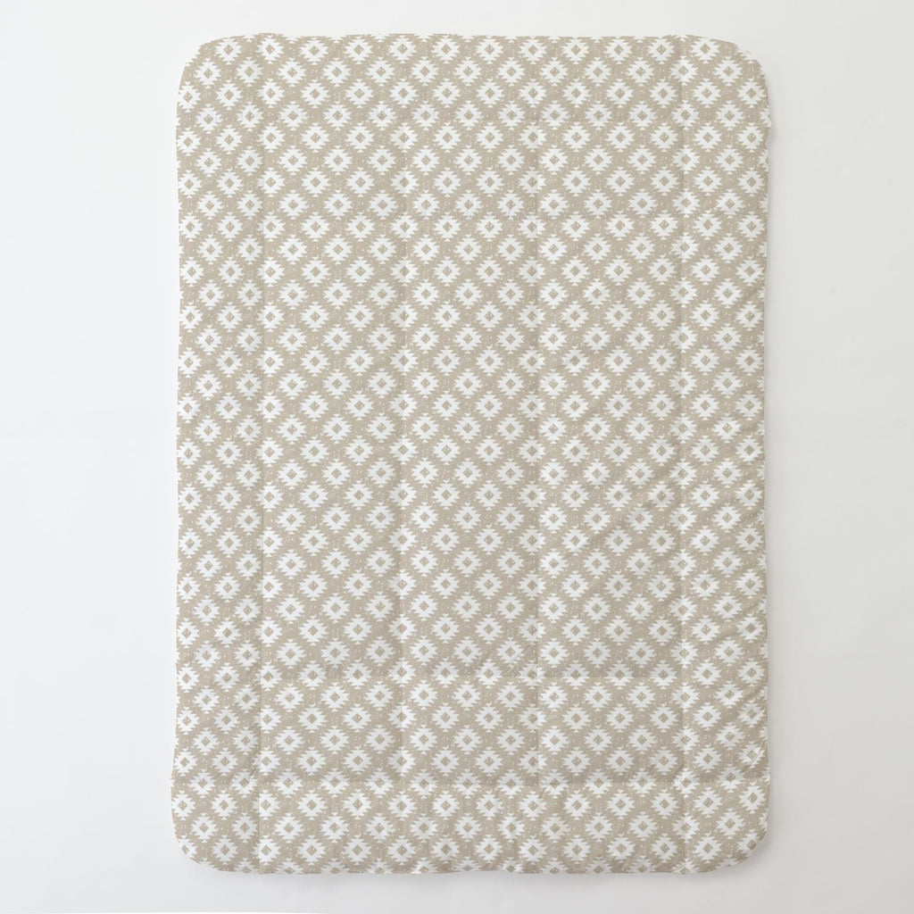 Product image for Taupe and White Aztec Toddler Comforter