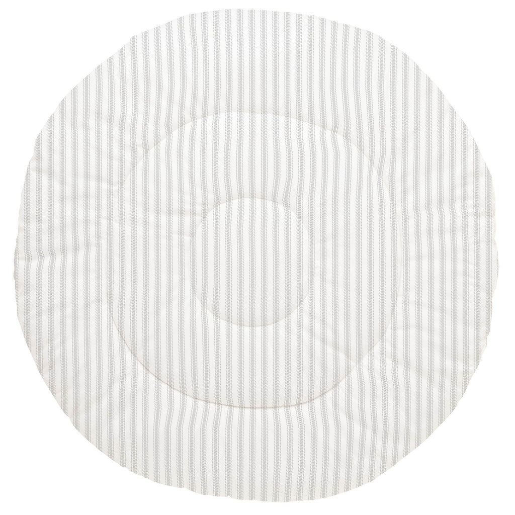 Product image for French Gray Ticking Stripe Baby Play Mat