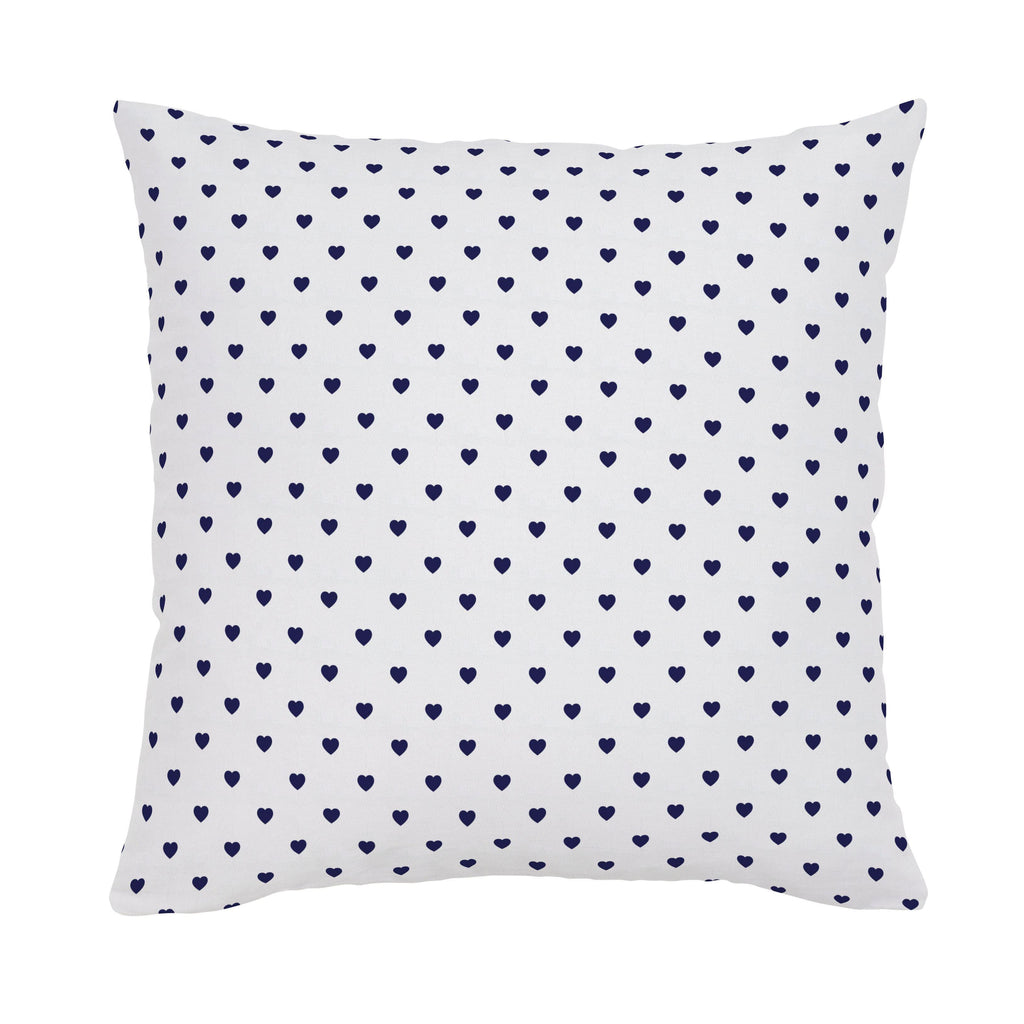 Product image for Windsor Navy Hearts Throw Pillow