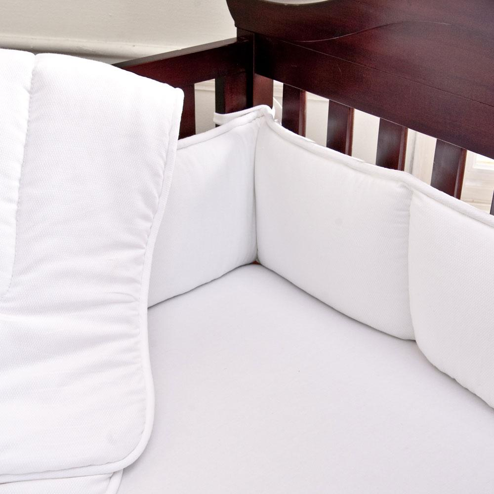 Product image for White Pique Crib Bumper