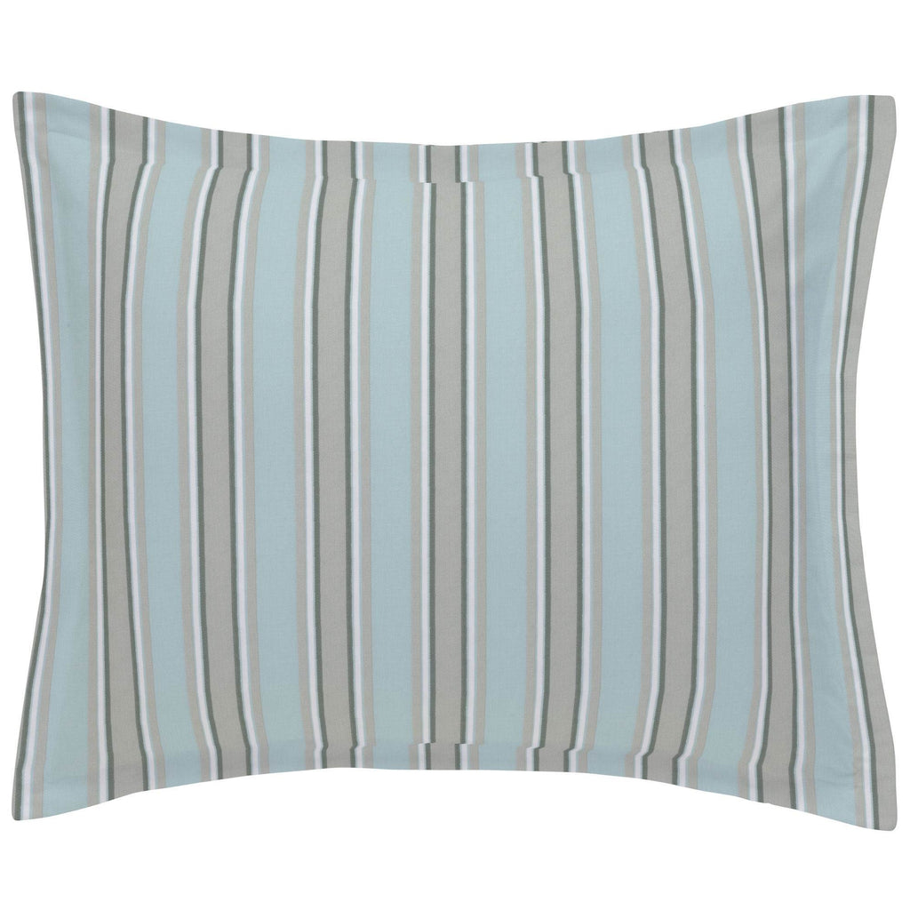 Product image for Mist and Gray Stripe Pillow Sham