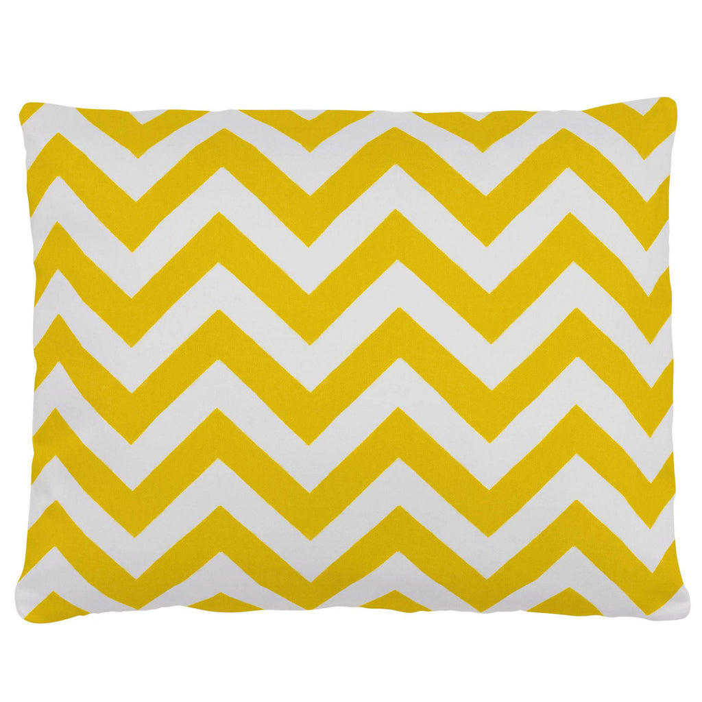 Product image for Yellow Zig Zag Accent Pillow