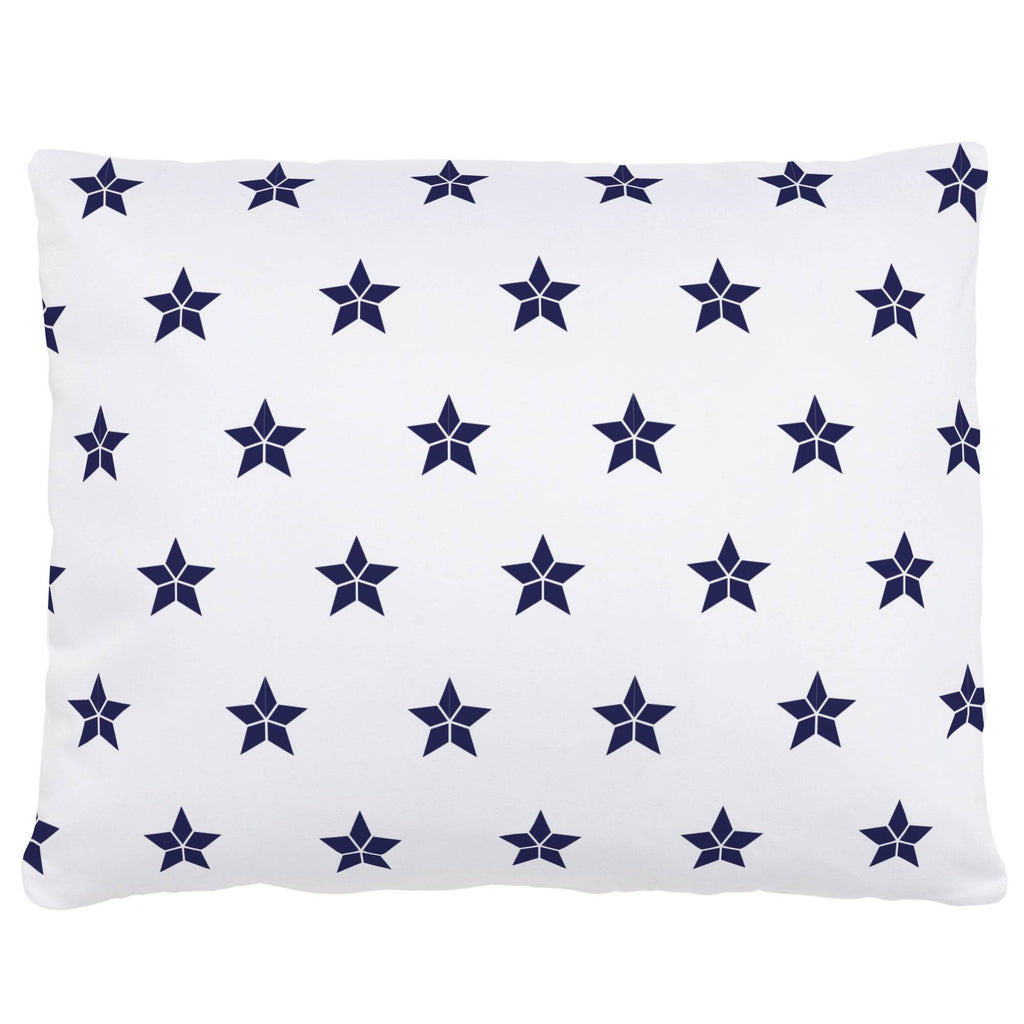 Product image for Navy Mosaic Stars Accent Pillow