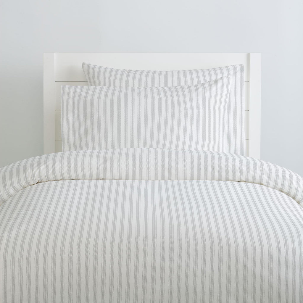 Product image for French Gray Ticking Stripe Duvet Cover